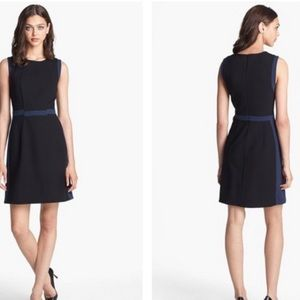 New Diane Von Furstenberg Ponte A Line Black Dress